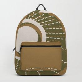 Moonlit Love - Mid Century Modern Gold Backpack