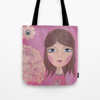 courage Tote Bags featuring Courage by ArtByBeata