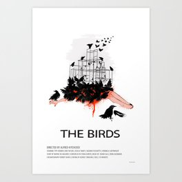 The Birds (1963) Art Print