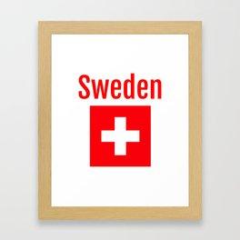 Sweden - Swiss Flag Framed Art Print