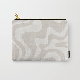 Liquid Swirl Contemporary Abstract Pattern in Mushroom Cream Carry-All Pouch