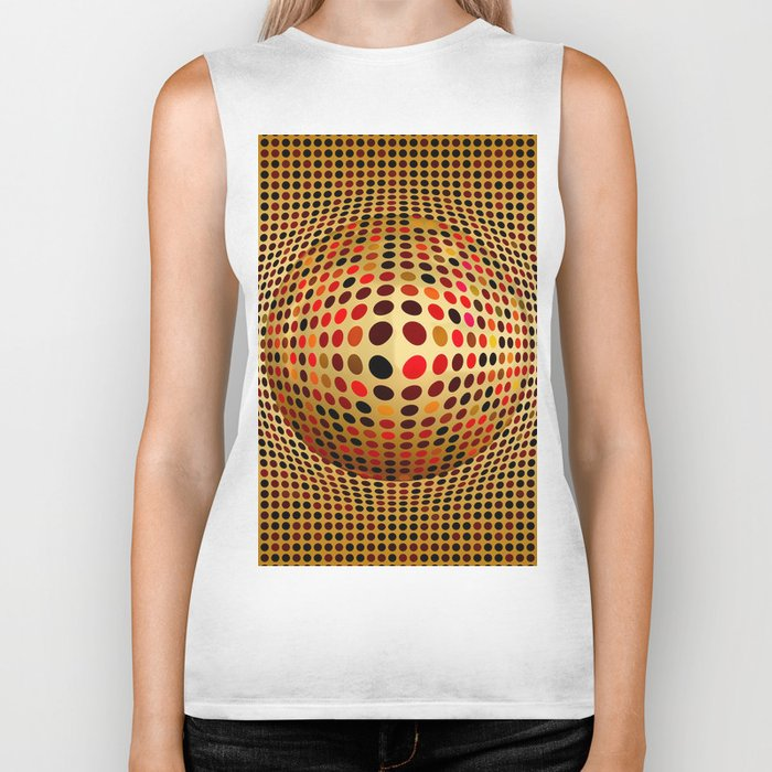 Ball illusion art Biker Tank