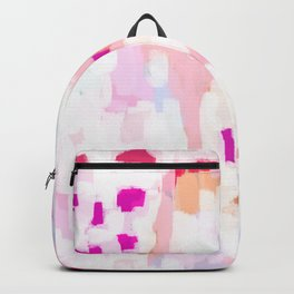 Netta - abstract painting pink pastel bright happy modern home office dorm college decor Backpack