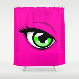 Confident Pink Heroine Shower Curtain