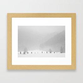 Snow Tales #1 Framed Art Print