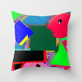 The man at the piano Throw Pillow