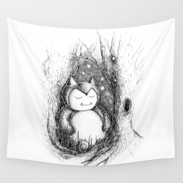 Snoozy Snorlax Wall Tapestry