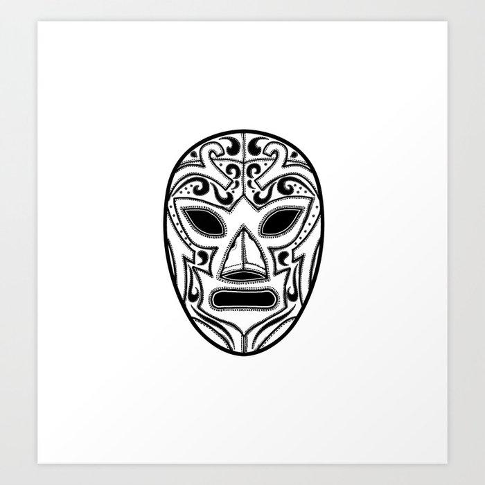 Mexican Wrestling Mask Art Print By Tsir Society6