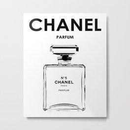 Fashion print, Brand, Black and white, Fashion art, Minimal Metal Print