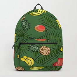 Tropical fruits pattern Backpack
