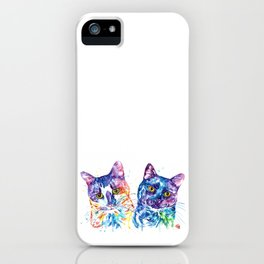 2 Kitties Hanging Out iPhone Case