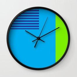 Neon Retro Colorblock Wall Clock