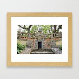 Vizcaya : Secret Coral Gardens Framed Art Print