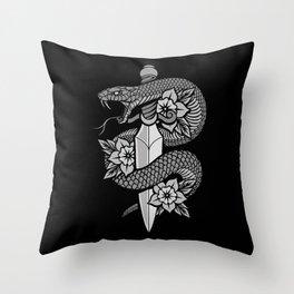 Snake & Dagger Throw Pillow