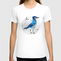 jay fleck T-shirts featuring Blue Jay by Condor