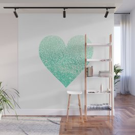 SEAFOAM HEART Wall Mural