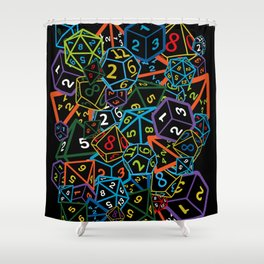D&D (Dungeons and Dragons) - This is how I roll! Shower Curtain