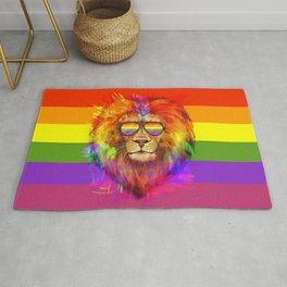Rainbow Lion Pride Rug