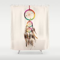 dreamer Shower Curtains featuring Dreamer by Laura Ruth