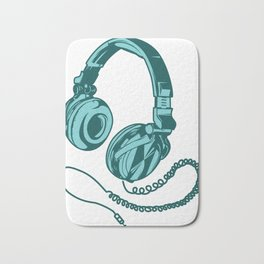 Headphone Headset Music Gaming Song Song Gift Bath Mat