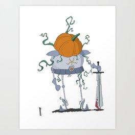 Pumpkin Knight Art Print