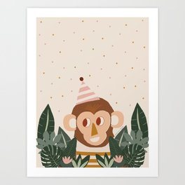 Monkey in the Wild Art Print