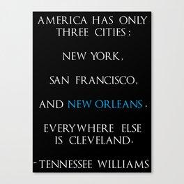 Tennessee Williams Canvas Print