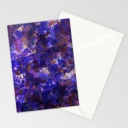 Deep Purple Violets Stationery Cards