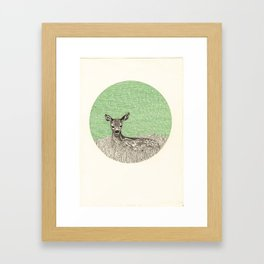 A deer Framed Art Print