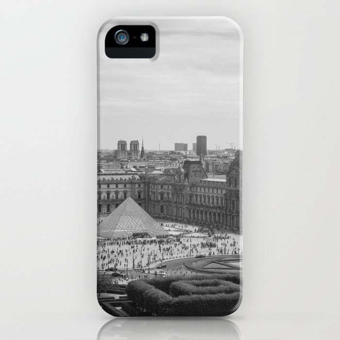 Postcard from Paris. Black and White Vintage Photography. iPhone Case