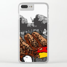 Bullsausages Clear iPhone Case