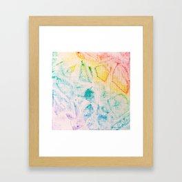 Rainbow Abstract #2 Framed Art Print