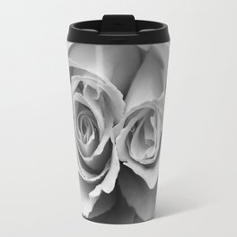 Flower Photography Double Headed Rose | Black and White | black-and-white | bw Travel Mug
