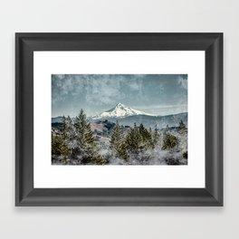 Frosty Mountain Framed Art Print