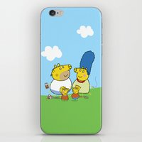 simpson iPhone & iPod Skins featuring The Peppa Simpson Family by Carlos Paboudjian