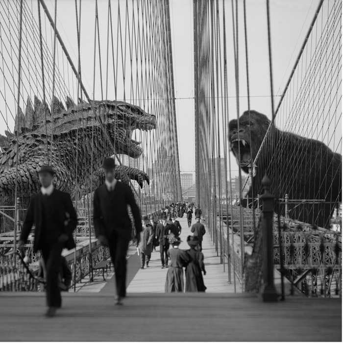 Old Time Godzilla vs. King Kong Comforters