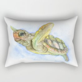 Sea Turtle Watercolor Rectangular Pillow