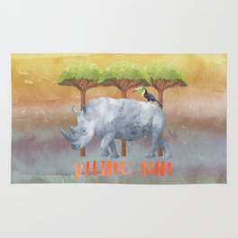 RHINO - FUN - rhinoceros - Africa Animal on #Society6 Rug