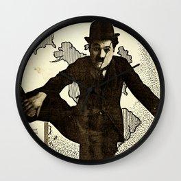 Charlie Chaplin Covers the World Wall Clock