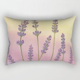 Lavender in Sunset Rectangular Pillow
