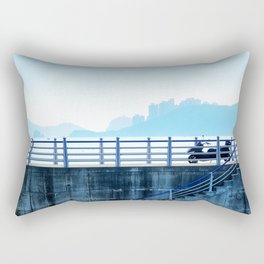 Faded blue landscape Rectangular Pillow