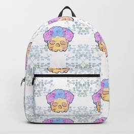 Gorgeous Skull and Floral Botanical Pattern Backpack
