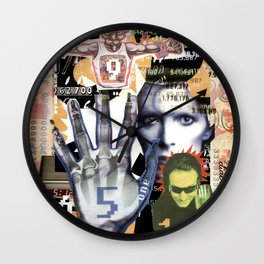 COLLAGE: Numbers Wall Clock
