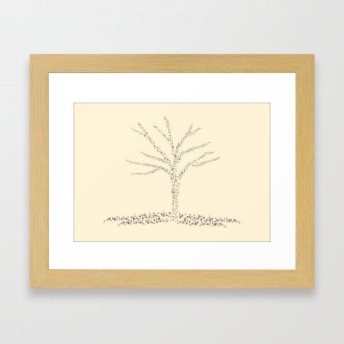 Tree of letters 2 Framed Art Print