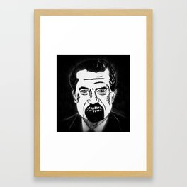 37. Zombie Richard Nixon  Framed Art Print