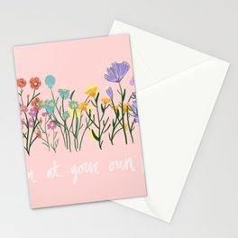 Bloom At Your Own Pace Stationery Cards