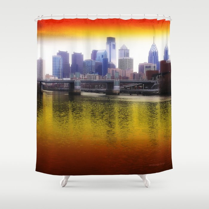 Philly Reflects Shower Curtain