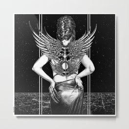 asc 1010 - L'ange d'acier (Chrome angel) Metal Print