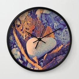 Old Metal, Stones & Shells Wall Clock