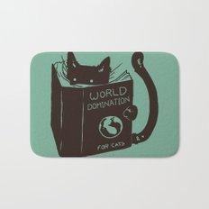 World Domination for Cats (Green) Bath Mat